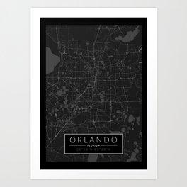 Florida Map Orlando.Florida Map Art Prints Society6
