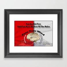 Free Your Mind Poster Framed Art Print