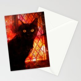 Staring Cat  Stationery Cards