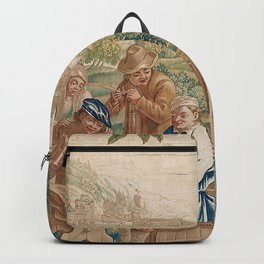 Verdure 18th Century French Tapestry Print Backpack