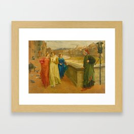 Henry Holiday - Dante And Beatrice Framed Art Print