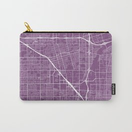 Anaheim Map, USA - Purple Carry-All Pouch
