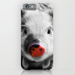 BW splash sweet piglet iPhone Case