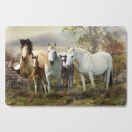 Connemara Ponies Cutting Board