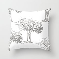 Join the trees Throw Pillow