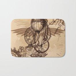 Steampunk - Clock and Gears Ballon Bath Mat