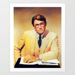 Gregory Peck, Vintage Actor Art Print