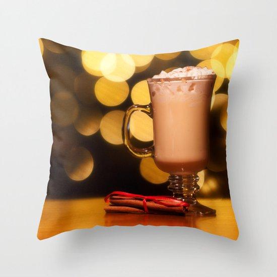 Holiday Eggnog Throw Pillow