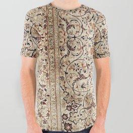 Silk Esfahan Persian Carpet Print All Over Graphic Tee