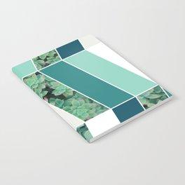 Teal Herringbone #society6 #teal #succulent Notebook