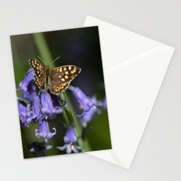 Butterfly on Bluebells Stationery Cards