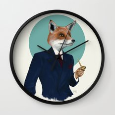 Mr. Fox Wall Clock