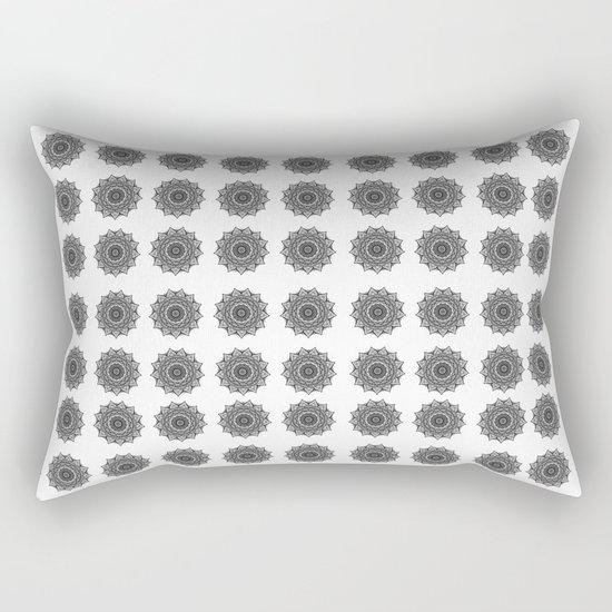 Black and White Mandala | Secret Geometry Rectangular Pillow