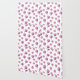 Pattern design with beets Wallpaper