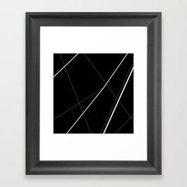 Abstract marble (black) Framed Art Print