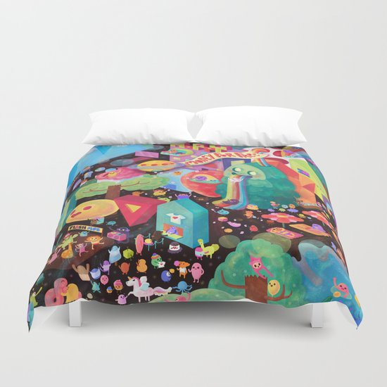 Happy World - Money is FREE ! Duvet Cover