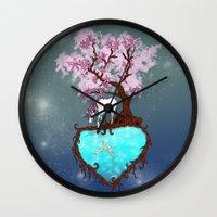 the last unicorn Wall Clocks featuring Last Unicorn by Astrablink7