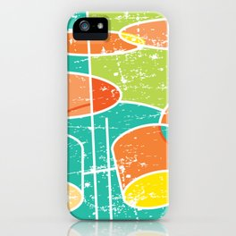 Drumset Colorful and Abstract iPhone Case