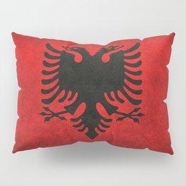 """Flag of Albania - in """"Super Grunge"""" Pillow Sham"""