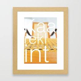 Kaare Klint Deck Chair Framed Art Print