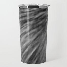 Slate Gray Pixel Wind Travel Mug