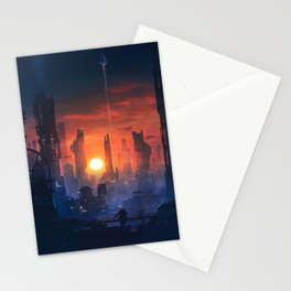 Barcelona Smoke & Neons: The End Stationery Cards