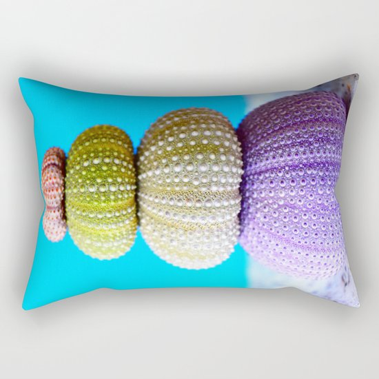 Oursin color coquillage Rectangular Pillow