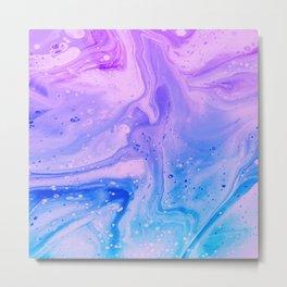 Abstract Acrylic Liquid P 187 Metal Print