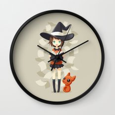 Little Witch 2 Wall Clock