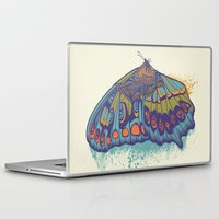 butterfly Laptop & iPad Skins featuring Butterfly Life Cycle by Rachel Caldwell