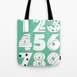 Funky Numbers Tote Bag