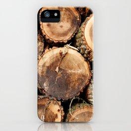 Cut logs iPhone Case