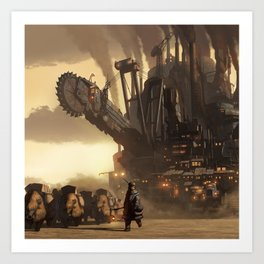 Steampunk Abstract Painting Art Print