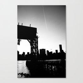 New York City Blackout Canvas Print