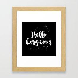 Hell Gorgeous Black and White Paint Splatter Framed Art Print