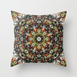 Boho Geometric Mandela Pattern 1 Throw Pillow