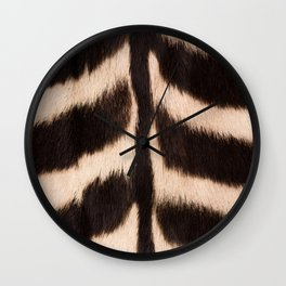 Zebra - zebra stripes -zebra skin - genuine - beautiful  Wall Clock