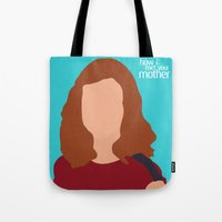 himym Tote Bags featuring Lily Aldrin HIMYM by Rosaura Grant