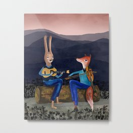 Smoky Mountain Gypsy Jazz Metal Print