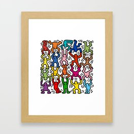 Homage to Keith Haring Acrobats II Framed Art Print