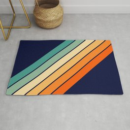 Farida - 70s Vintage Style Retro Stripes Rug