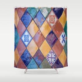 multicolor ceramic tiles Shower Curtain
