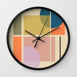 Modern geometric shapes Wall Clock