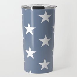 White stars on blue background. From the collection - Hello America. Travel Mug