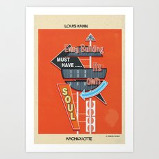 quote Louis Kahn Art Print