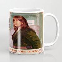 propaganda Mugs featuring Doctor Who Propaganda Poster by ghimm