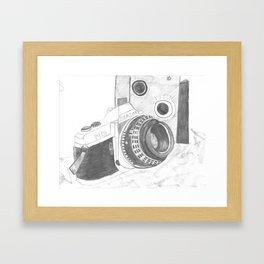 Pentax Illustrated Framed Art Print