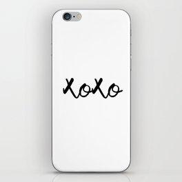 XOXO monochrome iPhone Skin