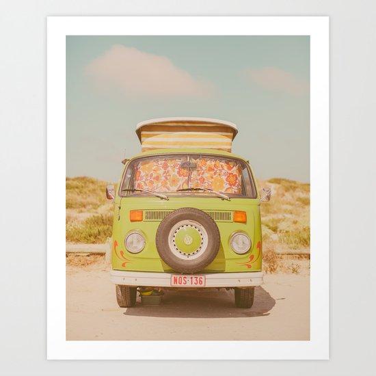 let's ride through europe Art Print