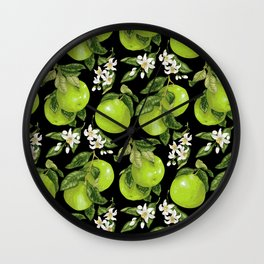 Blooming pomelo with fruits Wall Clock